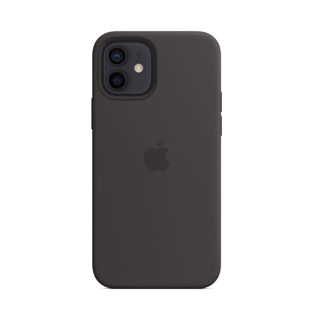 Купить Черный силиконовый чехол oneLounge Silicone Case MagSafe Black для iPhone 12 | 12 Pro OEM