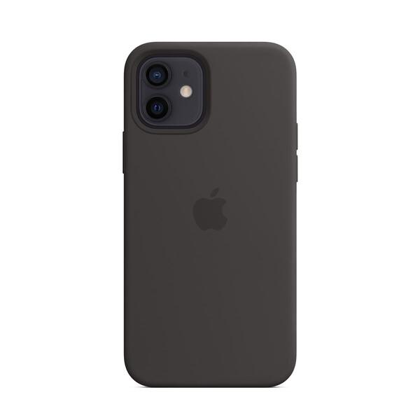 Черный силиконовый чехол iLoungeMax Silicone Case MagSafe Black для iPhone 12 | 12 Pro OEM