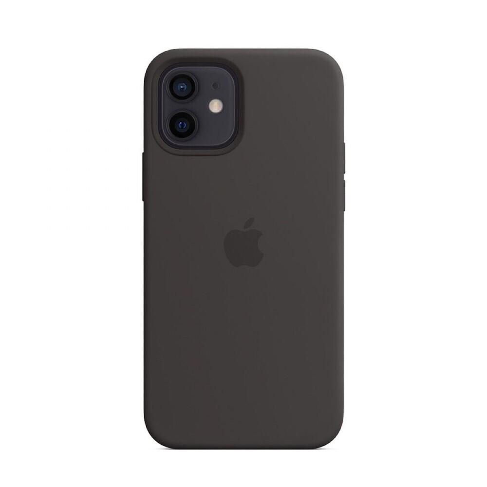 Купить Черный силиконовый чехол oneLounge Silicone Case MagSafe Black для iPhone 12 | 12 Pro OEM (c поддержкой анимации)