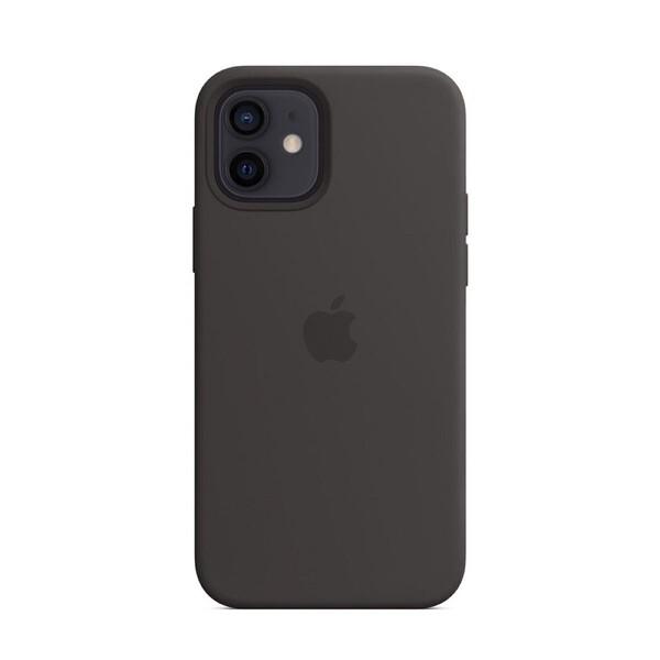 Черный силиконовый чехол iLoungeMax Silicone Case MagSafe Black для iPhone 12 | 12 Pro OEM (c поддержкой анимации)