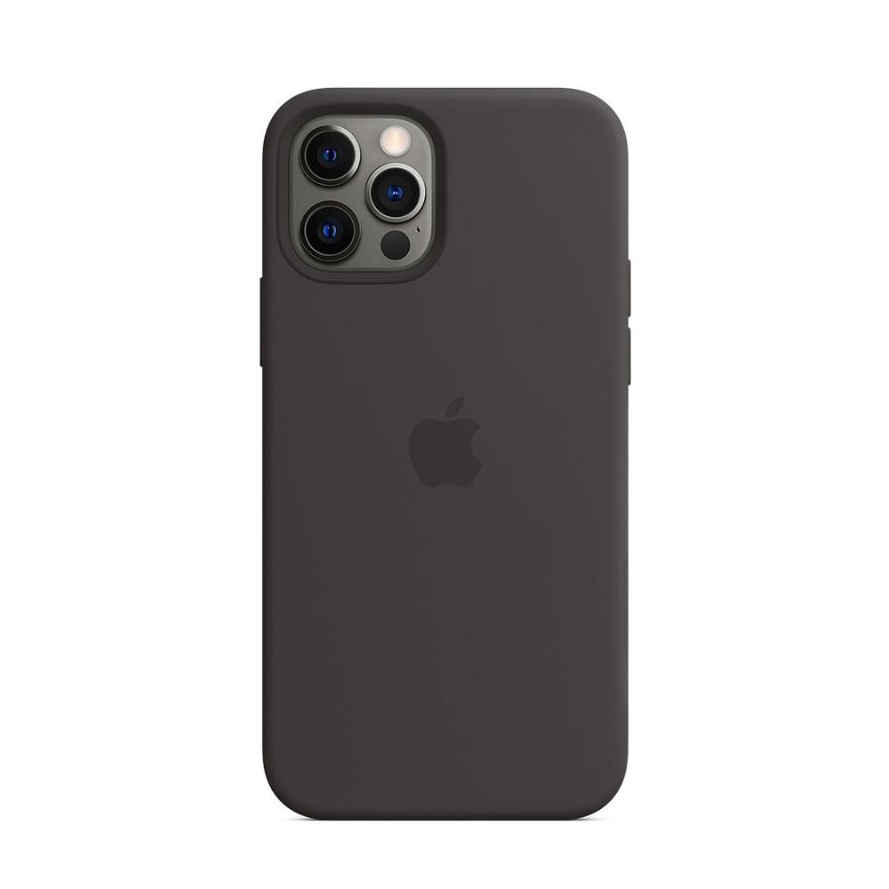 Черный силиконовый чехол iLoungeMax Silicone Case MagSafe Black для iPhone 12 Pro Max OEM