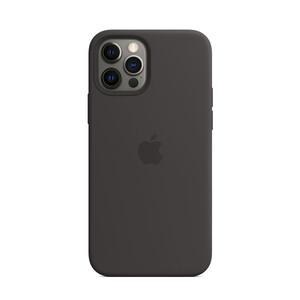 Купить Черный силиконовый чехол iLoungeMax Silicone Case MagSafe Black для iPhone 12 Pro Max OEM
