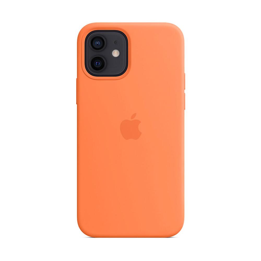 Cиликоновый чехол  iLoungeMax Silicone Case MagSafe Kumquat для iPhone 12 | 12 Pro OEM