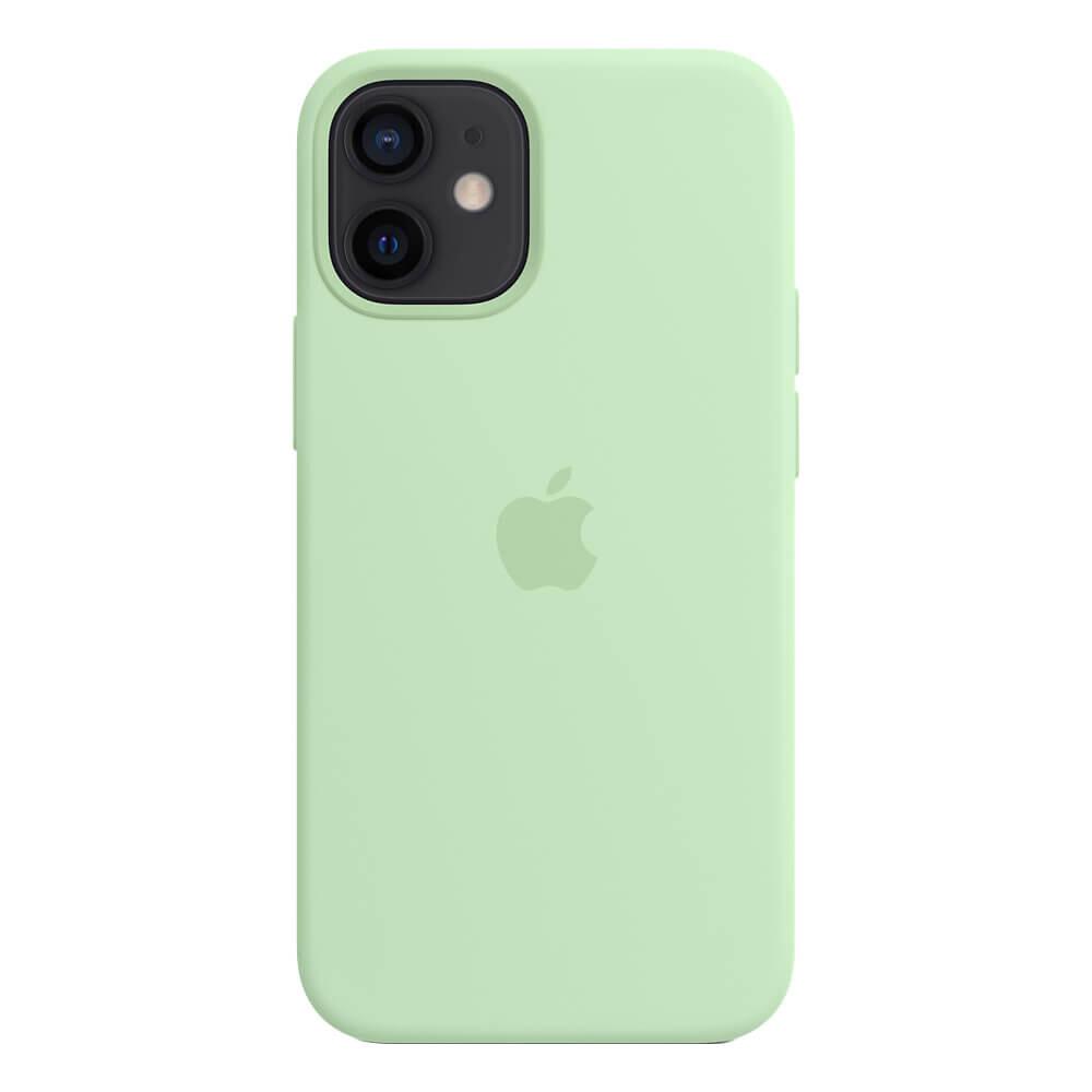 Силиконовый чехол iLoungeMax Silicone Case MagSafe Pistachio для iPhone 12 mini OEM (c поддержкой анимации)