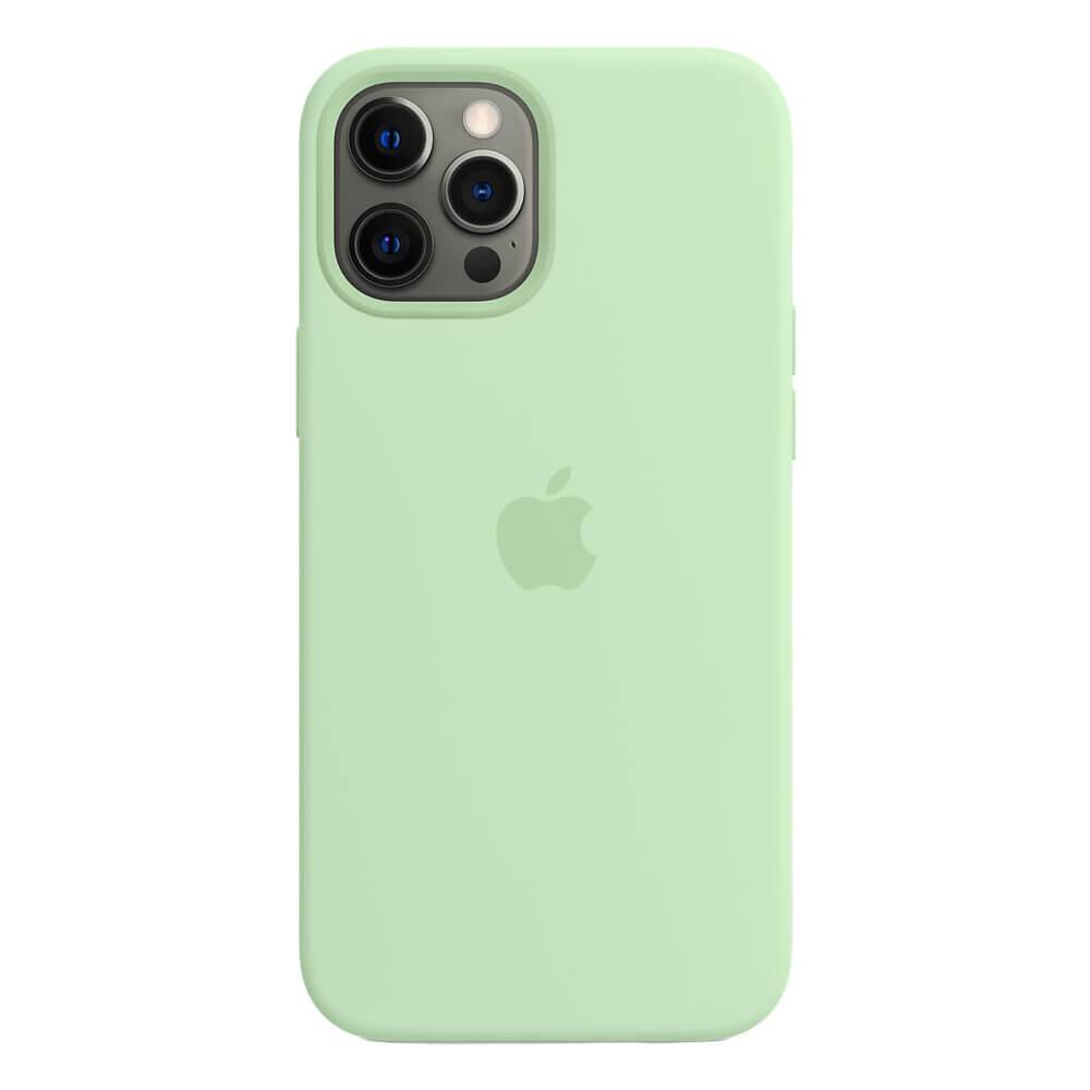 Силиконовый чехол iLoungeMax Silicone Case MagSafe Pistachio для iPhone 12 Pro Max OEM (с поддержкой анимации)