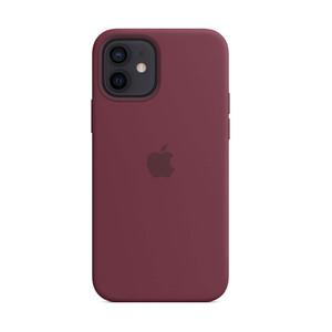 Купить Cиликоновый чехол oneLounge Silicone Case MagSafe Plum для iPhone 12 mini OEM