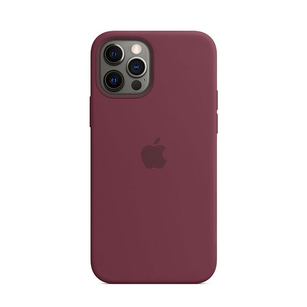 Силиконовый чехол iLoungeMax Silicone Case MagSafe Plum для iPhone 12 Pro Max OEM