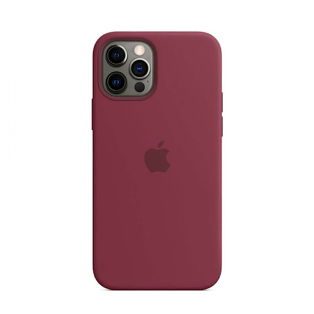 Силиконовый чехол iLoungeMax Silicone Case MagSafe Plum для iPhone 12 Pro Max OEM (c поддержкой анимации)