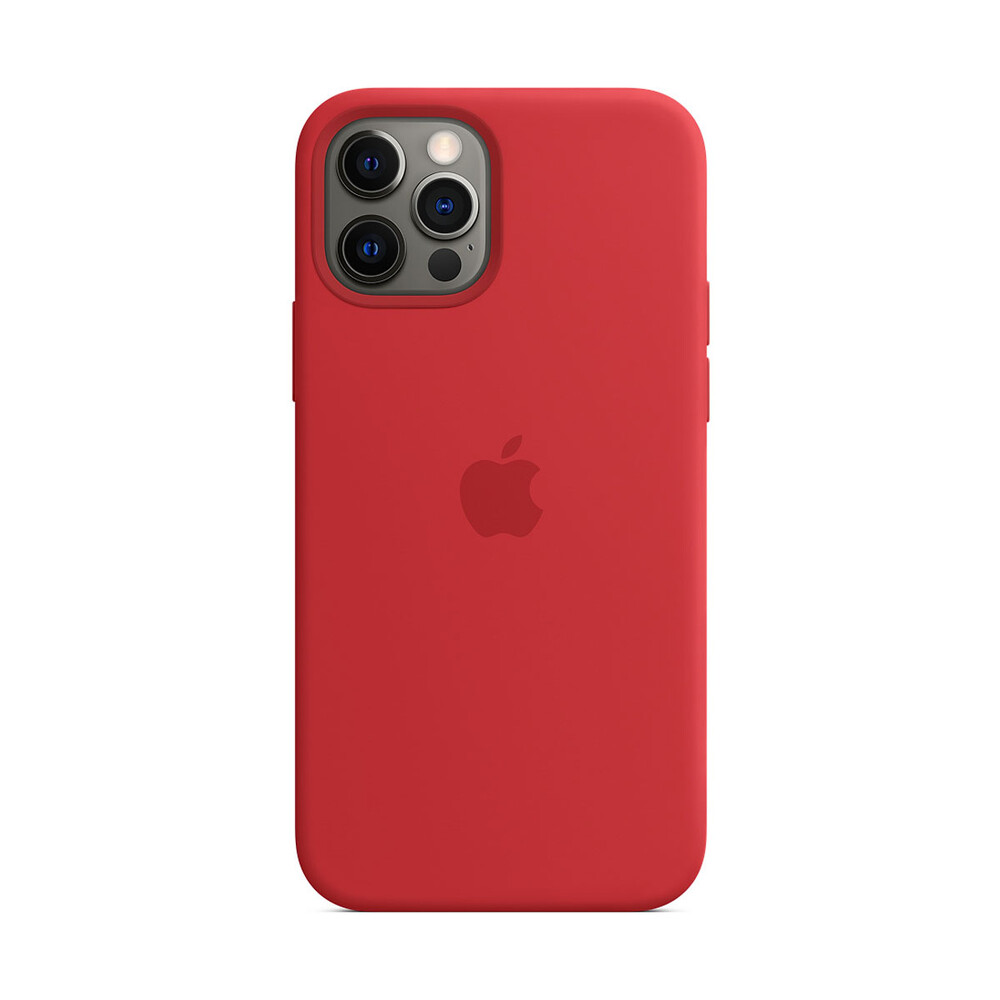 Силиконовый чехол iLoungeMax Silicone Case MagSafe (PRODUCT) RED для iPhone 12 Pro Max OEM