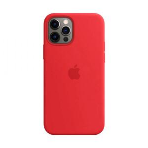 Купить Силиконовый чехол oneLounge Silicone Case MagSafe (PRODUCT) Red для iPhone 12 Pro Max OEM (c поддержкой анимации)
