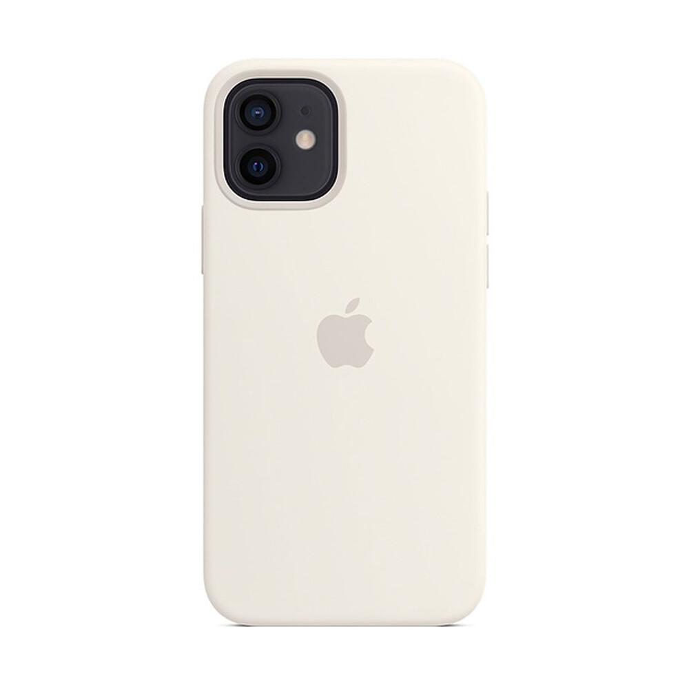Cиликоновый чехол iLoungeMax Silicone Case MagSafe White для iPhone 12 | 12 Pro OEM