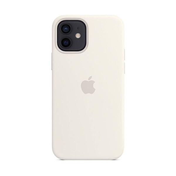 Силиконовый чехол iLoungeMax Silicone Case MagSafe White для iPhone 12 | 12 Pro OEM (c поддержкой анимации)
