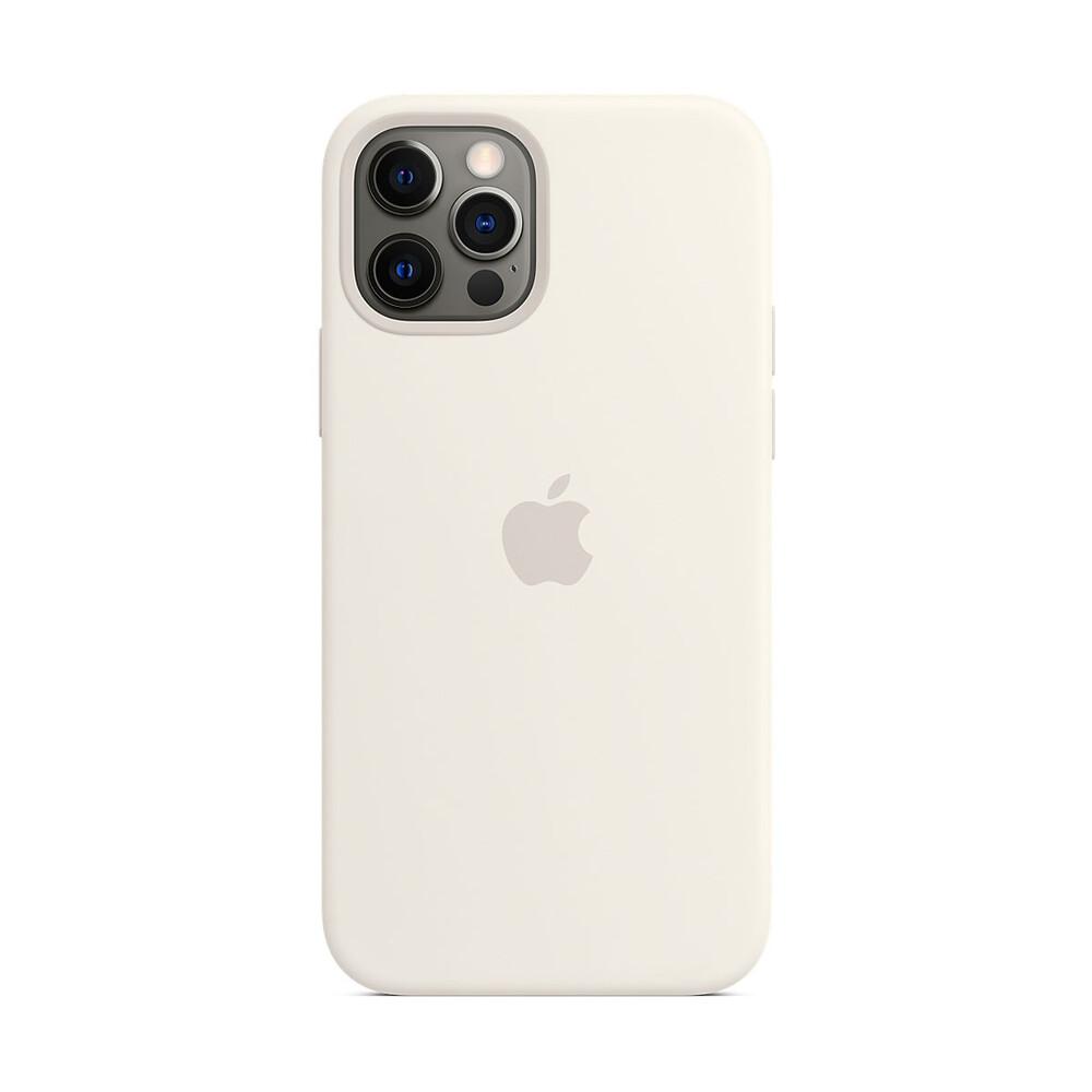 Купить Силиконовый чехол iLoungeMax Silicone Case MagSafe White для iPhone 12 Pro Max OEM