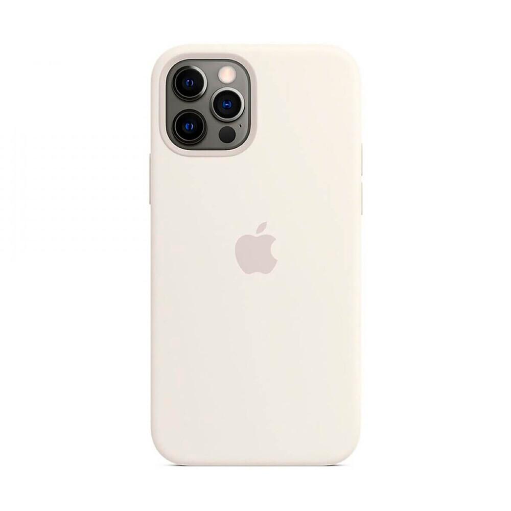 Силиконовый чехол iLoungeMax Silicone Case MagSafe White для iPhone 12 Pro Max OEM (c поддержкой анимации)