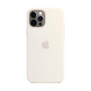 Купить Силиконовый чехол iLoungeMax Silicone Case MagSafe White для iPhone 12 Pro Max OEM (c поддержкой анимации)