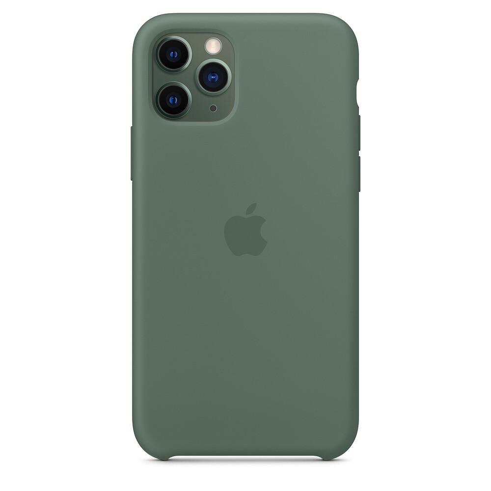Силиконовый чехол oneLounge Silicone Case Pine Green для iPhone 11 Pro Max OEM (MX012)