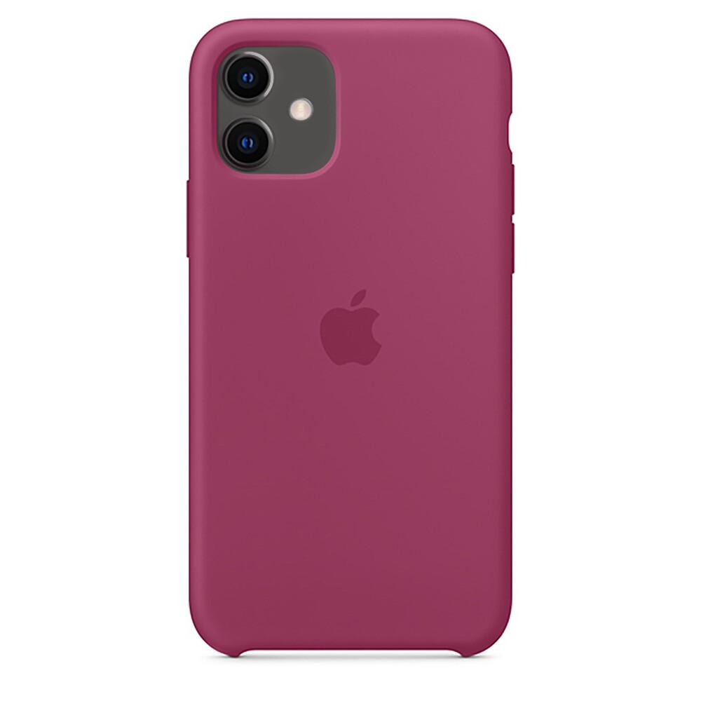 Силиконовый чехол oneLounge Silicone Case Pomegranate для iPhone 11 OEM