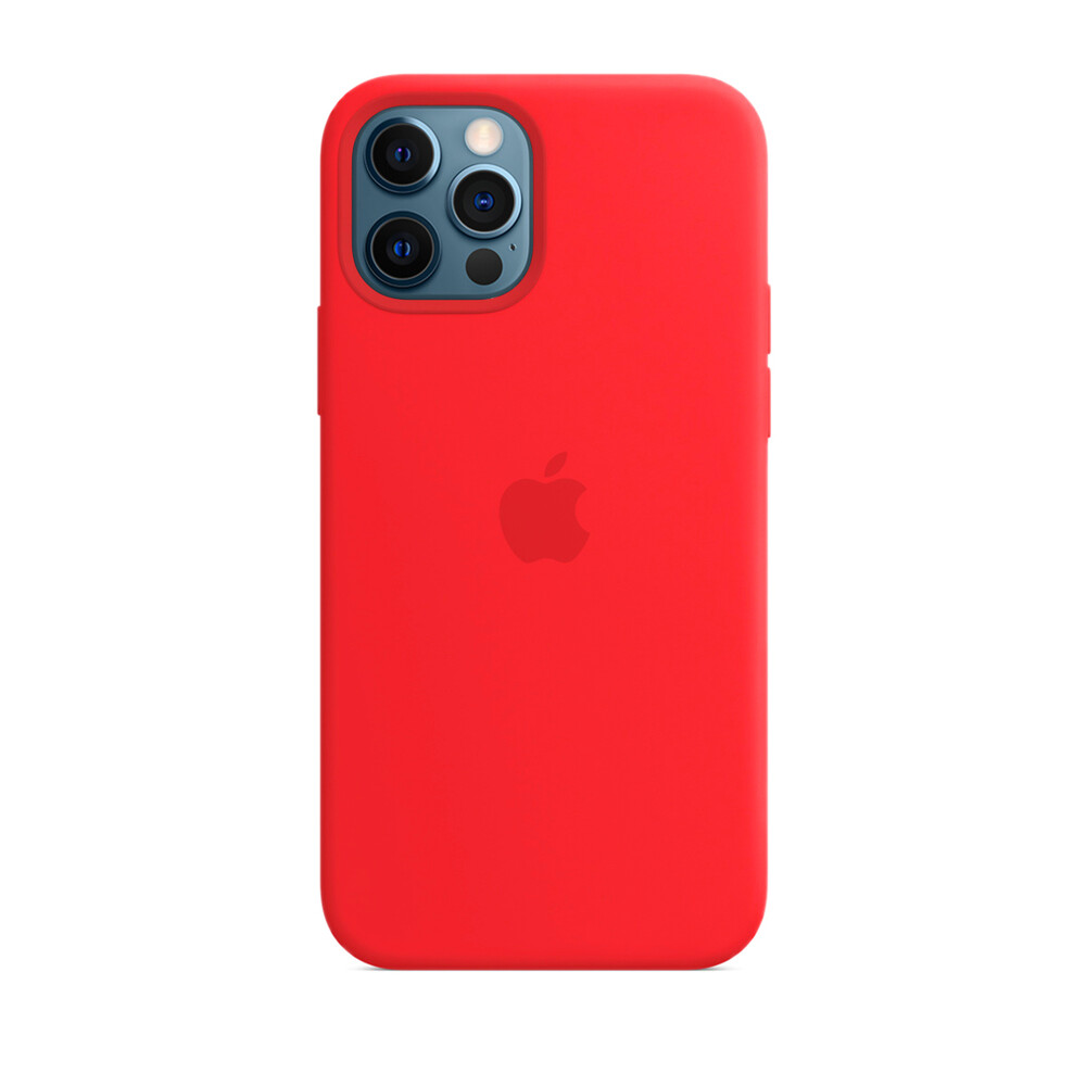 Силиконовый чехол iLoungeMax Silicone Case Red для iPhone 12 Pro Max OEM