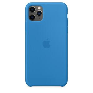 Купить Силиконовый чехол oneLounge Silicone Case Surf Blue для iPhone 11 Pro Max OEM (MY1J2)