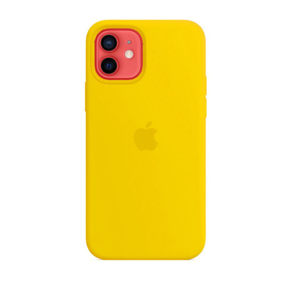Силиконовый чехол iLoungeMax Silicone Case Yellow для iPhone 12   12 Pro OEM