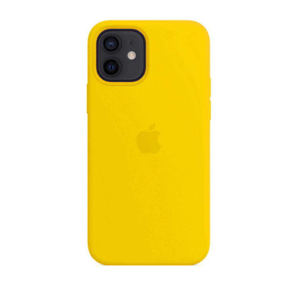 Силиконовый чехол iLoungeMax Silicone Case Yellow для iPhone 12 mini OEM