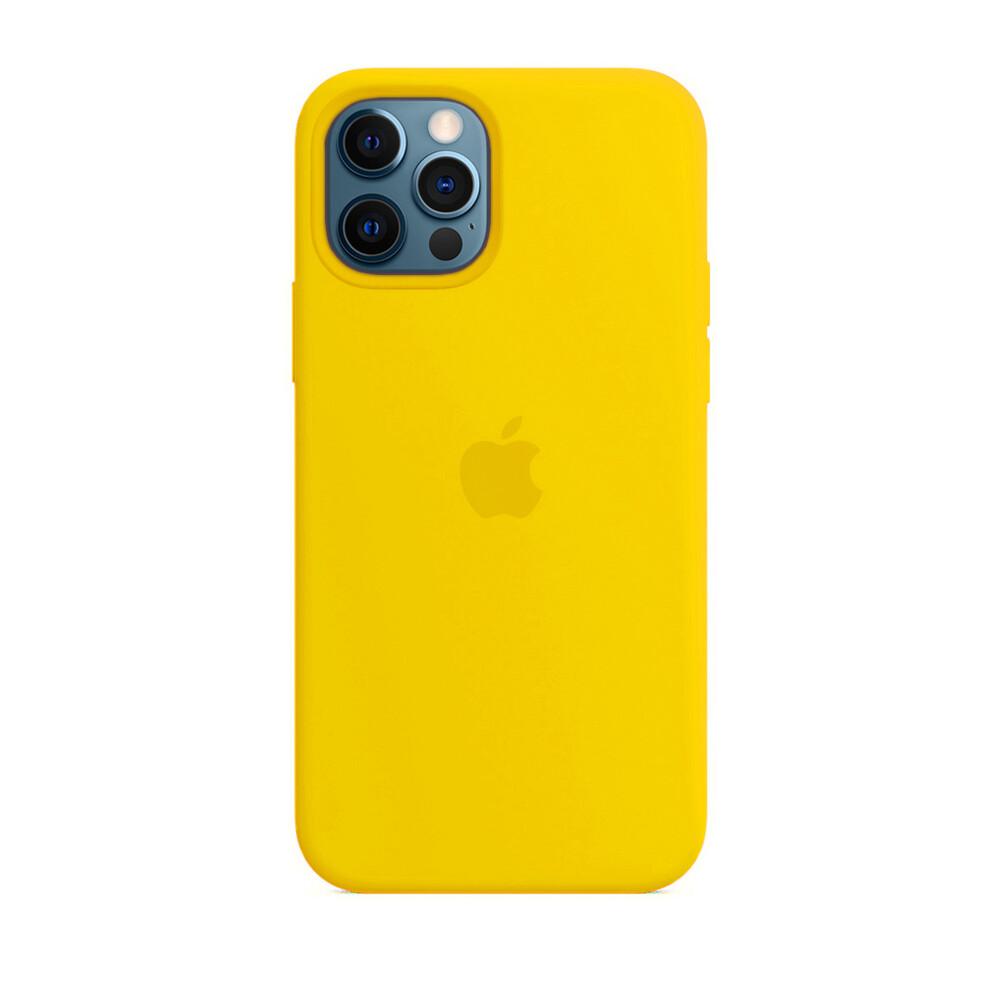 Силиконовый чехол iLoungeMax Silicone Case Yellow для iPhone 12 Pro Max OEM