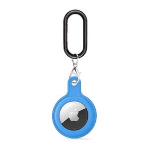 Купить Силиконовый брелок c карабином iLoungeMax Soft Protection Case Clip Blue для AirTag
