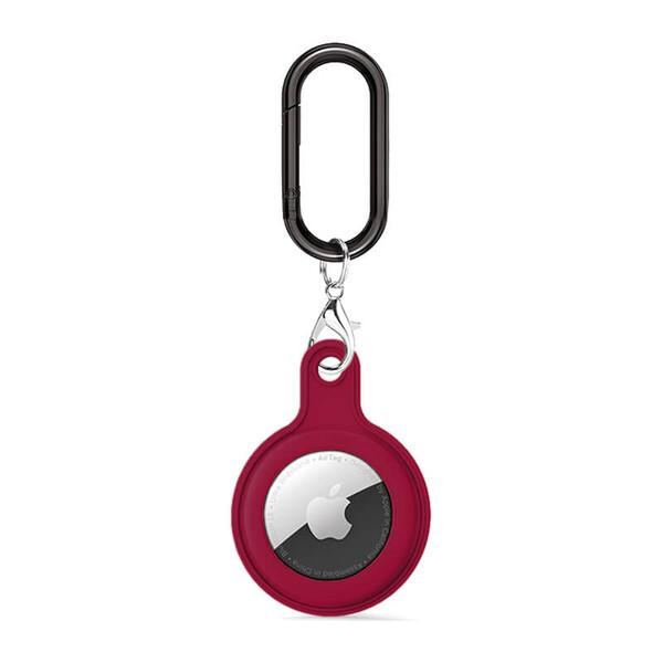 Силиконовый брелок c карабином iLoungeMax Soft Protection Case Clip Cherry для AirTag