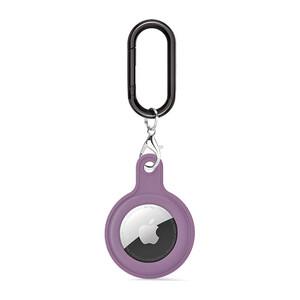 Купить Силиконовый брелок c карабином iLoungeMax Soft Protection Case Clip lavender grey для AirTag