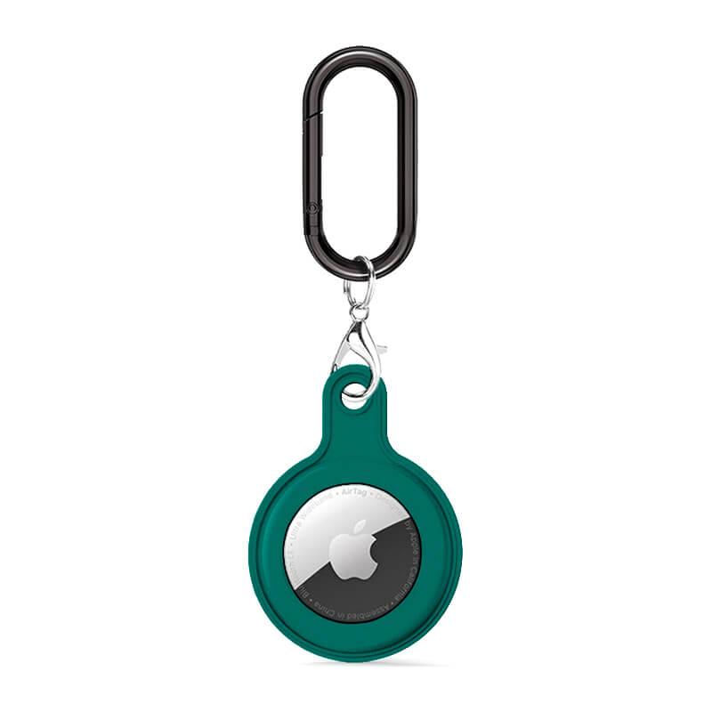 Купить Силиконовый брелок c карабином iLoungeMax Soft Protection Case Clip Green для AirTag
