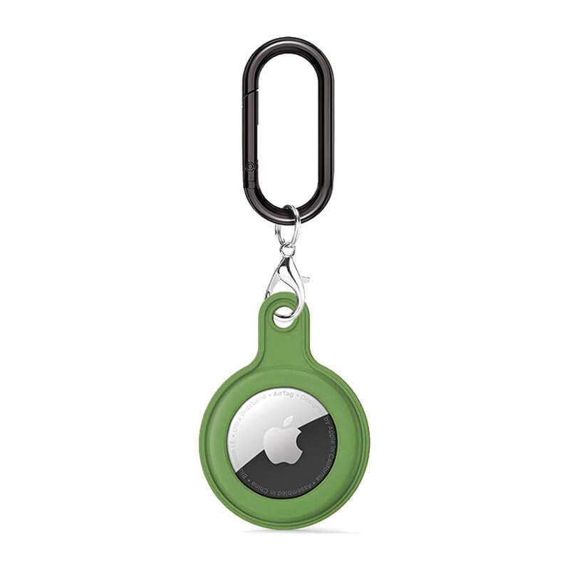 Силиконовый брелок c карабином iLoungeMax Soft Protection Case Clip Light Green для AirTag