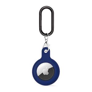 Купить Силиконовый брелок c карабином iLoungeMax Soft Protection Case Clip Midnight Blue для AirTag