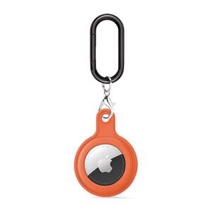 Купить Силиконовый брелок c карабином iLoungeMax Soft Protection Case Clip Orange для AirTag