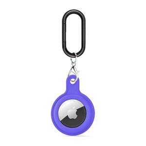 Купить Силиконовый брелок c карабином iLoungeMax Soft Protection Case Clip Purple для AirTag