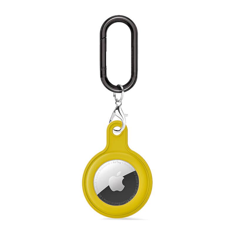 Силиконовый брелок c карабином iLoungeMax Soft Protection Case Clip Yellow для AirTag
