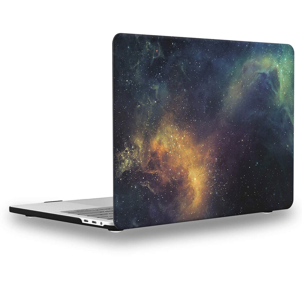 "Купить Пластиковый чехол oneLounge Soft Touch Matte Yellow Galaxy для MacBook Pro 13"" (2020)"