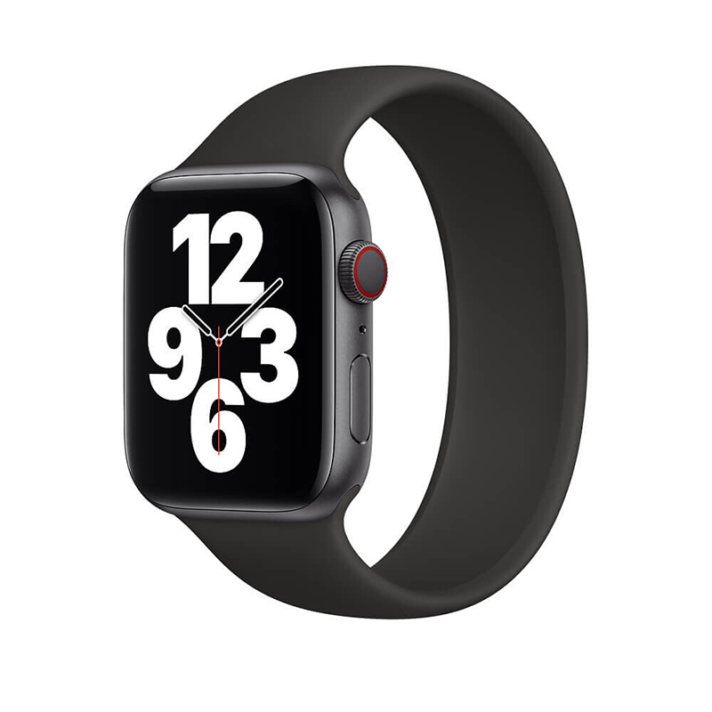 Купить Силиконовый монобраслет oneLounge Solo Loop Black для Apple Watch 44mm | 42mm Size M OEM