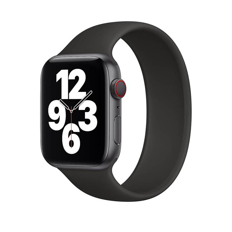 Купить Силиконовый монобраслет oneLounge Solo Loop Black для Apple Watch 38mm | 40mm Size S OEM