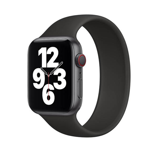 Силиконовый монобраслет iLoungeMax Solo Loop Black для Apple Watch 38mm | 40mm Size M OEM