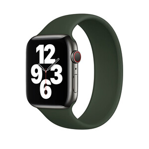 Купить Силиконовый монобраслет oneLounge Solo Loop Pine Green для Apple Watch 44mm Series SE | 6 | 5 | 4 Size S OEM