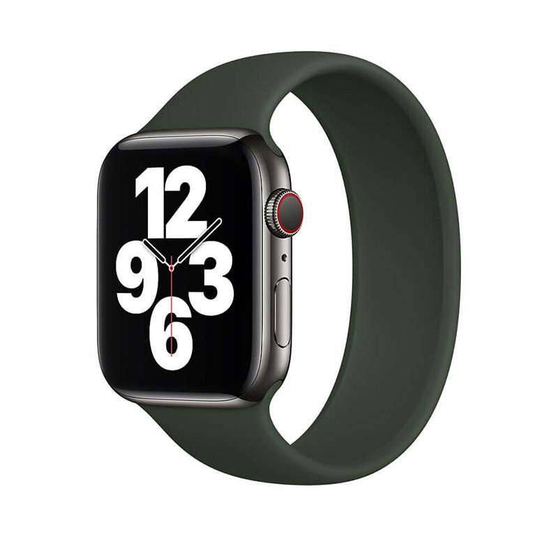 Силиконовый монобраслет iLoungeMax Solo Loop Pine Green для Apple Watch 38mm | 40mm Size L OEM