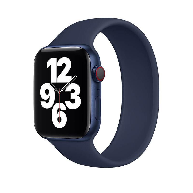 Силиконовый монобраслет iLoungeMax Solo Loop Midnight Blue для Apple Watch 44mm   42mm Size L OEM