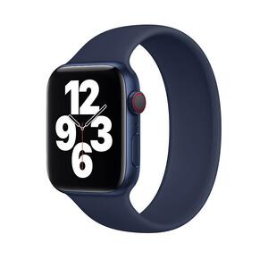 Купить Силиконовый монобраслет oneLounge Solo Loop Midnight Blue для Apple Watch 38mm | 40mm Size L OEM