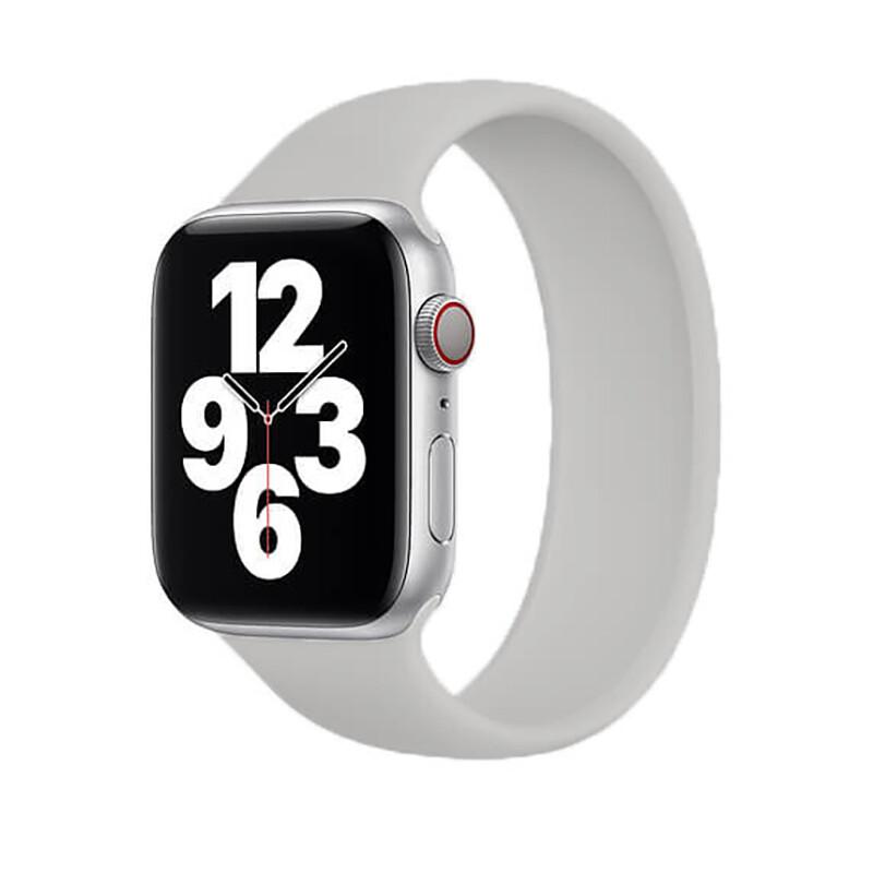 Силиконовый монобраслет iLoungeMax Solo Loop Gray для Apple Watch 44mm | 42mm Size L OEM