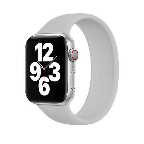 Силиконовый монобраслет iLoungeMax Solo Loop Gray для Apple Watch 44mm   42mm Size L OEM