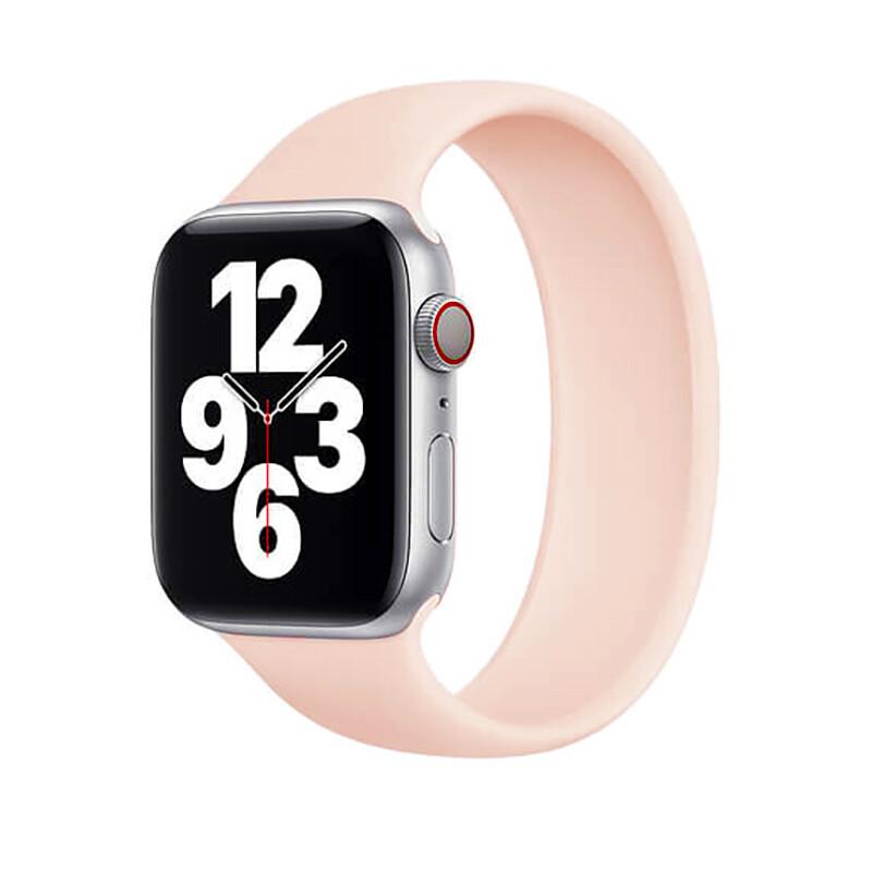 Силиконовый монобраслет iLoungeMax Solo Loop Pink для Apple Watch 38mm   40mm Size M OEM