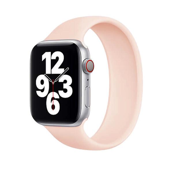 Силиконовый монобраслет iLoungeMax Solo Loop Pink для Apple Watch 38mm | 40mm Size M OEM