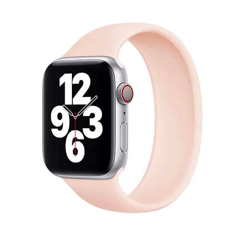 Купить Силиконовый монобраслет oneLounge Solo Loop Pink для Apple Watch 38mm | 40mm Size L OEM