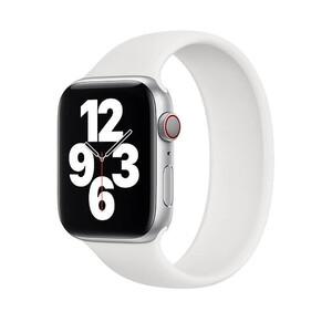 Купить Силиконовый монобраслет oneLounge Solo Loop White для Apple Watch 44mm | 42mm Size S OEM