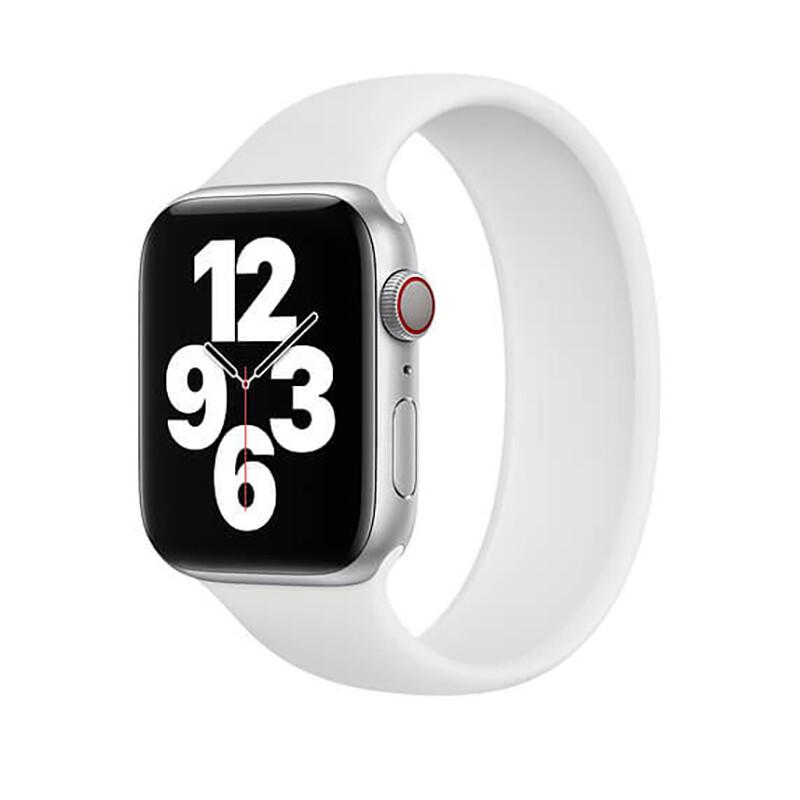 Силиконовый монобраслет iLoungeMax Solo Loop White для Apple Watch 44mm | 42mm Size M OEM